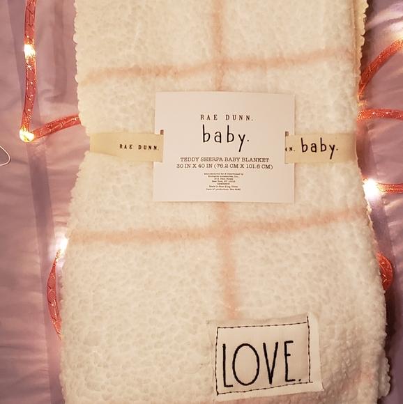 Rae Dunn LOVE baby blanket